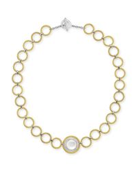 Alor | Metallic Classique Mother-Of-Pearl & Diamond Link Necklace | Lyst