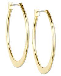 Anne Klein | Metallic Gold-Tone Large Oval Hoop Earrings | Lyst