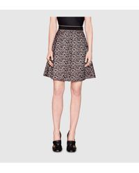 Gucci | Black Lace And Viscose Skirt | Lyst