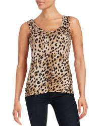 Calvin Klein | Multicolor Patterned Knit Tank | Lyst
