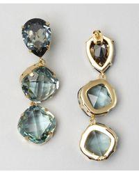 Joanna Laura Constantine - Light Blue Triple Crystal Drop Earrings - Lyst