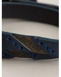 DIESEL - Blue 'Ageft' Bracelet for Men - Lyst