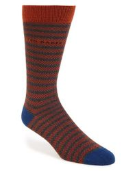 Ted Baker | Orange 'herbay' Stripe Socks for Men | Lyst