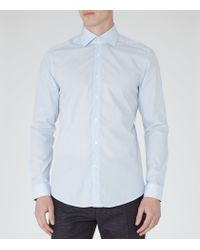 Reiss | Blue Harlem Fine Pattern Shirt for Men | Lyst