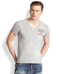 DSquared² - Gray Caten County Sheriff Tee for Men - Lyst