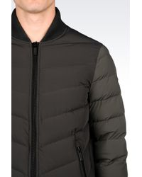 Armani Jeans   Green Down Jacket In Technical Fabric for Men   Lyst