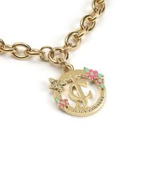 Juicy Couture | Metallic Jc Floral Status Necklace | Lyst