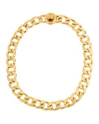 Kenneth Cole | Metallic Goldtone Chain Link Necklace | Lyst