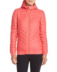 The North Face - Red 'karokora' Quilted Down Bomber Jacket - Lyst