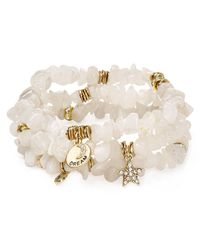 Sequin - White Color Karma Dream Star Bracelets, Set Of 3 - Lyst