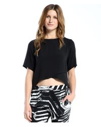 Michael Stars | Black Crossover Top | Lyst