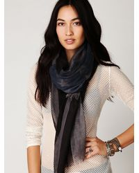 Free People | Gray Womens Tattered Flag Scarf | Lyst