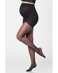Ingrid & Isabel - Black Ingrid & Isabel Sheer Maternity Pantyhose - Lyst