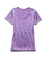 Under Armour | Purple Spacedye Active Tee | Lyst