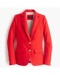 J.Crew - Red Rhodes Blazer In Italian Wool for Men - Lyst