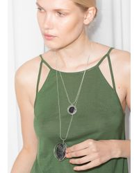 & Other Stories | Black Orb Necklace | Lyst