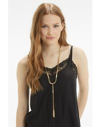 Oasis - Metallic Snake Chain Long Necklace - Lyst