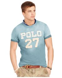 Polo Ralph Lauren - Blue Football T-shirt for Men - Lyst