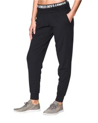 Under Armour | Black Downtown Knit Joggers | Lyst