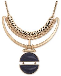 Lucky Brand | Metallic Gold-tone Stone Collar Necklace | Lyst