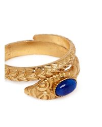 Ela Stone - Blue 'sofia' Serpent Coil Ring - Lyst