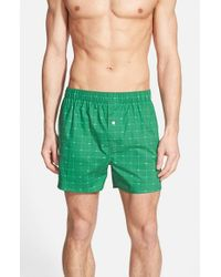 Lacoste | Blue Crocodile-Print Boxers for Men | Lyst