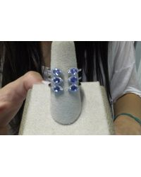 Anne Sisteron - 14kt White Gold Blue Sapphire Diamond Open Circuit Ring - Lyst