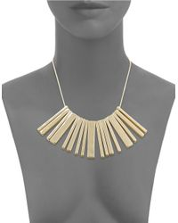Lauren by Ralph Lauren | Metallic Golden Bar Statement Necklace | Lyst