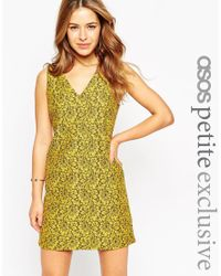 ASOS | Green Shift Dress In Lace | Lyst