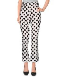 Dolce & Gabbana - White Casual Trouser - Lyst