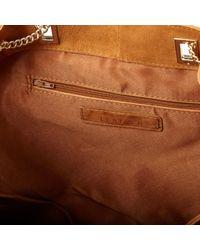 River Island - Brown Tan Suede Slouchy Chain Handbag - Lyst