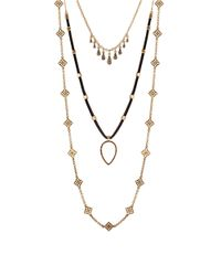 Lucky Brand | Metallic Gifting Lucky Layers Triple Necklace | Lyst