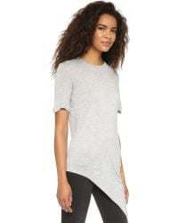 Cheap Monday | Gray Tie Tee - Black | Lyst