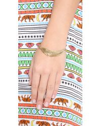 Sunahara | Metallic Feather Wrap Bangle Bracelet - Gold | Lyst