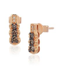 Le Vian | Pink 14k Rose Gold Chocolate And Vanilla Diamond Earrings | Lyst