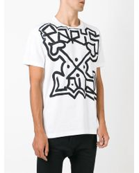 Faith Connexion - White Graffiti Print T-shirt for Men - Lyst