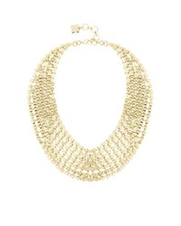 BCBGMAXAZRIA | Metallic Chain Bib Necklace | Lyst