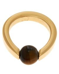Chloé - Metallic Gold-Tone Darcey Single Stone Ring - Lyst