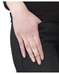 Arme De L'Amour | Pink Sphere Line Ring | Lyst