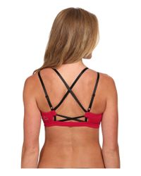 Beyond Yoga | Red Crisscross Back Bra | Lyst