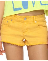 Forever 21 - Yellow Colored Denim Cutoffs - Lyst