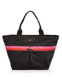 kate spade new york | Black Clark Court Nylon Arabella Tote | Lyst
