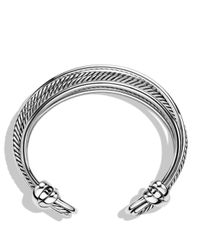 David Yurman | Metallic Crossover Narrow Cuff With Gold | Lyst