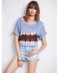 Free People | Multicolor We The Free Womens We The Free Washed Hem Tee | Lyst