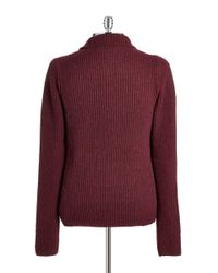 Victorinox | Red Wool Zip Front Cardigan for Men | Lyst