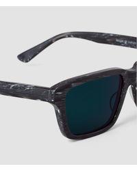 AllSaints - Gray The Chord Sunglasses for Men - Lyst