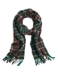Brooks Brothers   Green Two-color Plaid Scarf for Men   Lyst