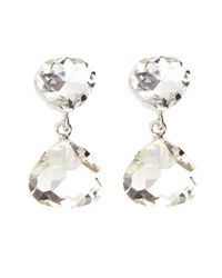 Kenneth Jay Lane | Metallic Crystal Pear Drop Earrings | Lyst