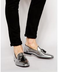 ASOS - Metallic Tassel Loafers In Leather for Men - Lyst