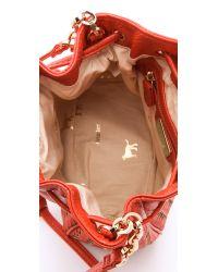 Deux Lux - Red Drawstring Bucket Bag - Cayenne - Lyst
